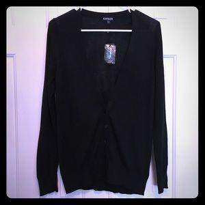 NWT Express Black V-neck Cardigan Sweater